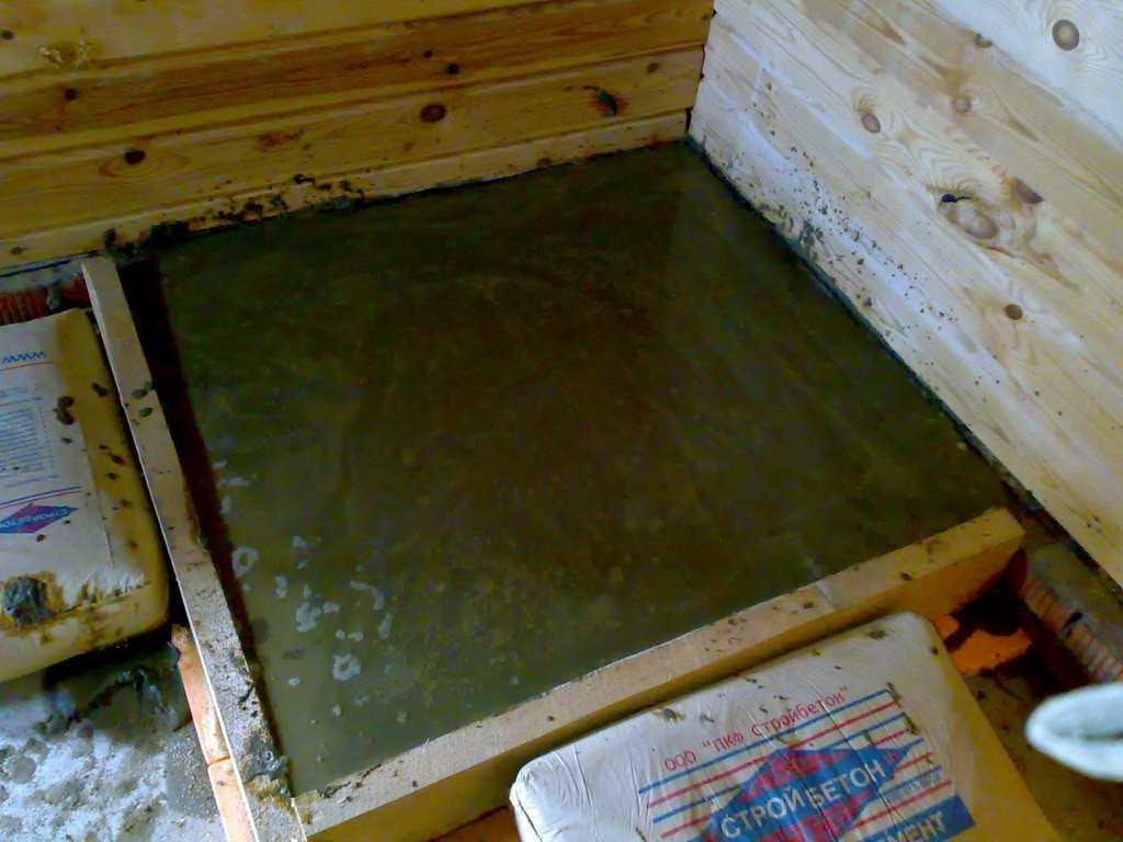 Фундамент для печи бетона.
