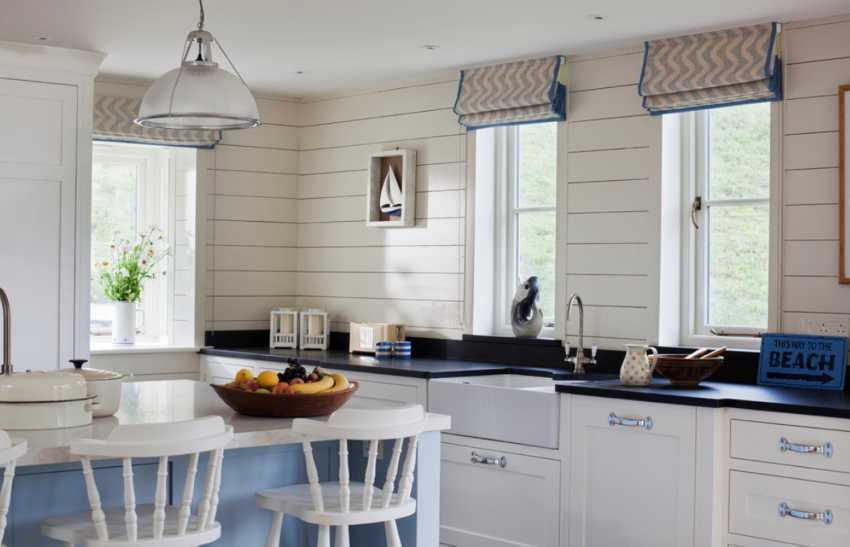 Римские шторы на кухню.