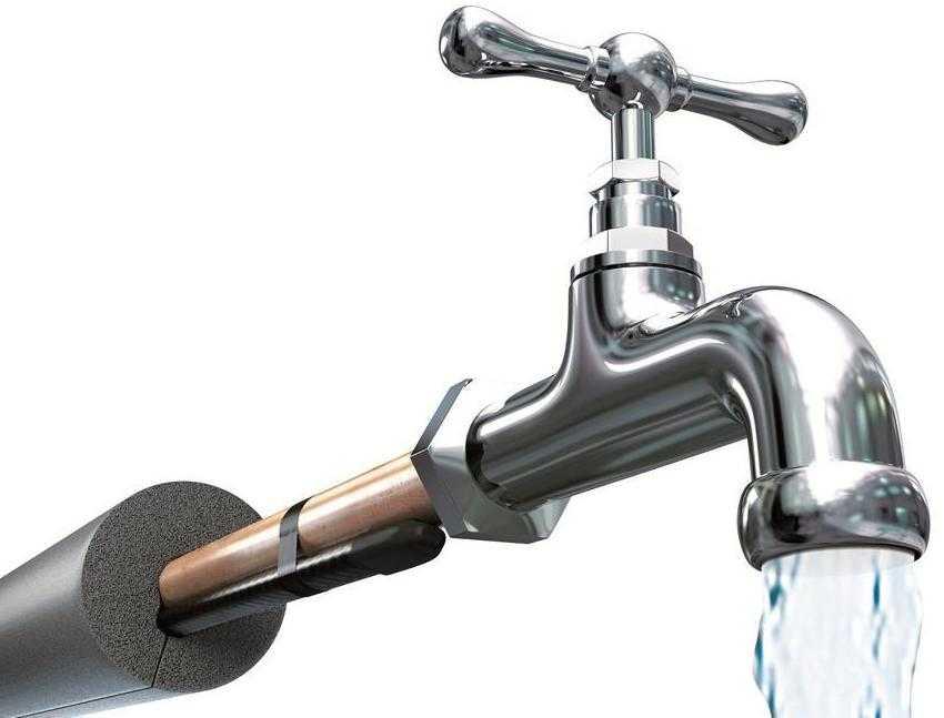 Греющий кабель применяется для водопроводных систем.