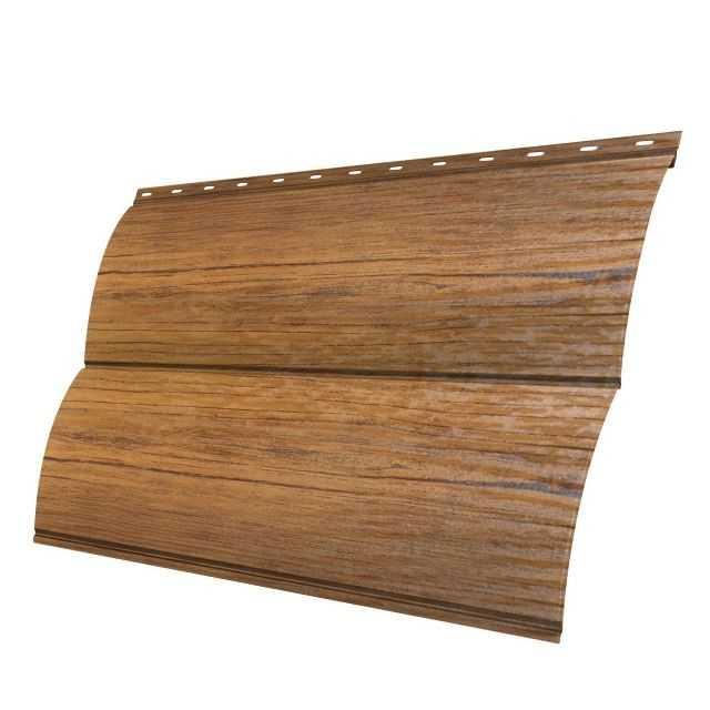 Металлический сайдинг под бревно Блок-хаус Ecosteel сосна.