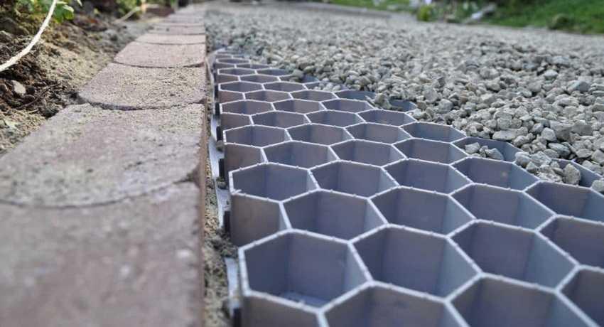 Георешетка из бетона как цементный раствор сделать белым