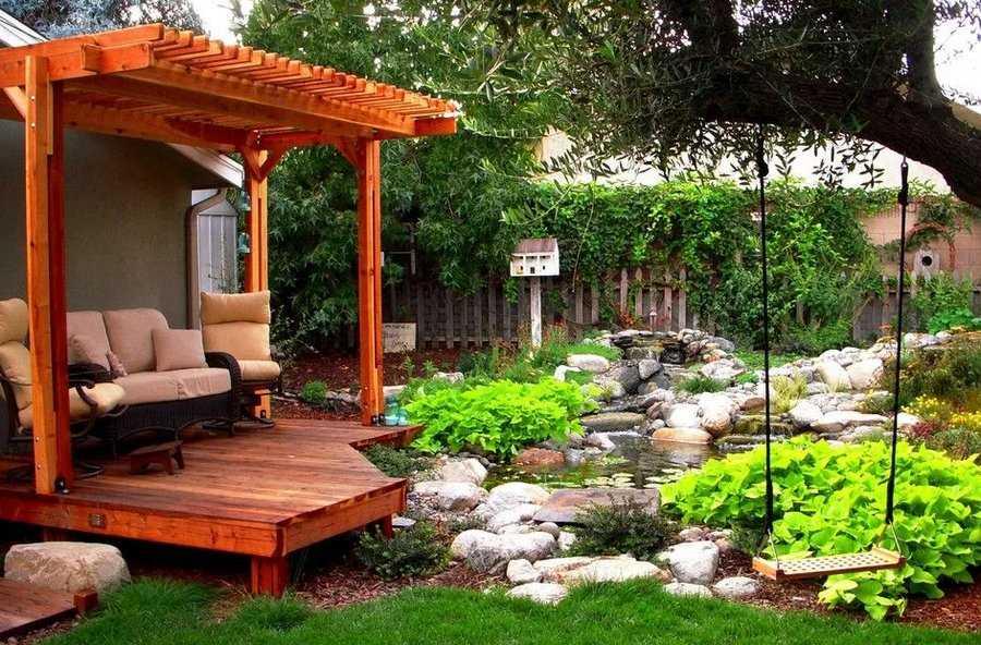 Пикник-центр с прудом ипатио(простой американский вариант).