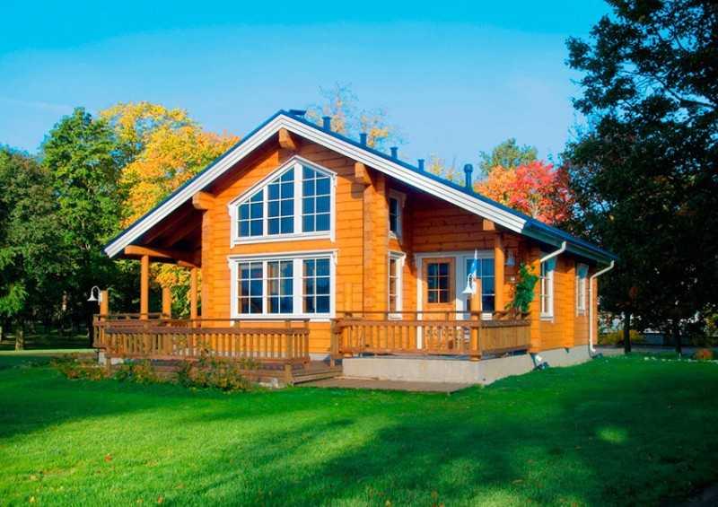 Строительство домов из дерева.